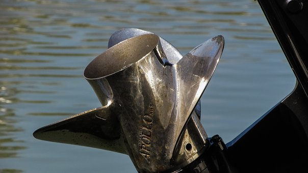 Propeller, Outboard Motor, Engine, Equipment, Metal