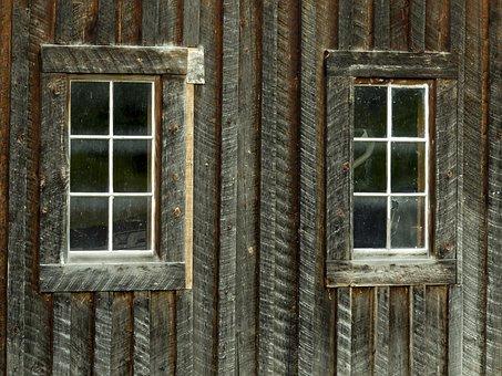 Wooden, Building, Windows, Facade, Barn, Old