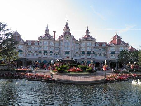 Disneyland, Paris, France, Spring, Disney Park