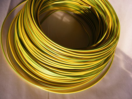 Blue, Cable, Copper, Electrical, Green Yellow