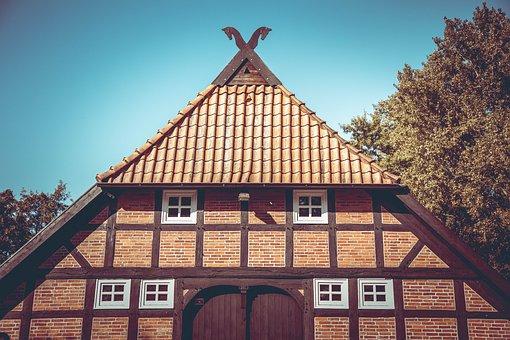 Barn, Farm, Hut, House, Old, Window, Village