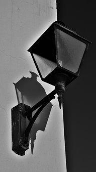 Light Bulb, Lamppost, Lamp, Light, Black And White