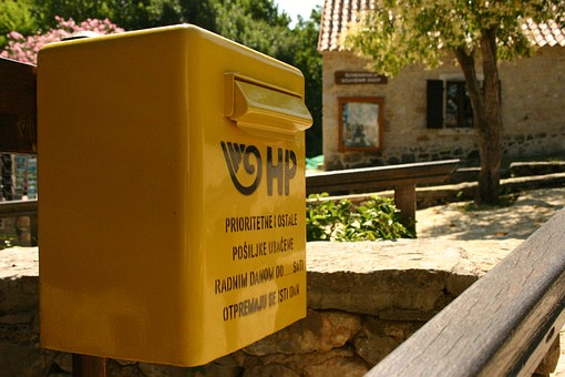 Letter Boxes, Mailbox, Letters, Post, Yellow, Rural