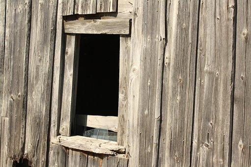Barn, Wood, Old, Log Cabin, Hut, Lapsed, Weathered