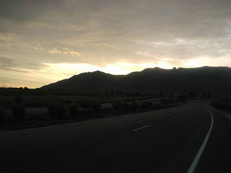 Sunrise, Mountains, Foothills, Sandia Mountains