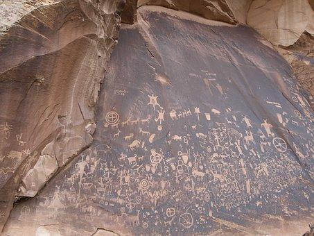 Petroglyph, Rock Art, Indian, Nature, Drawing, History