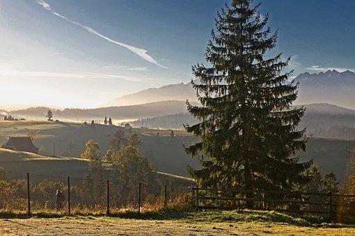 Dawn, Sunrise, Nature, Landscape, Morning, Podhale