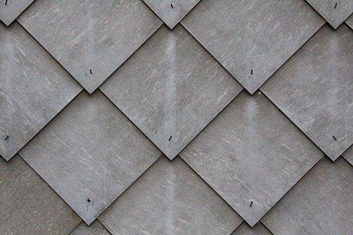 Tile, Slate, Shingle, Diamonds, Grey, Pattern, Wall