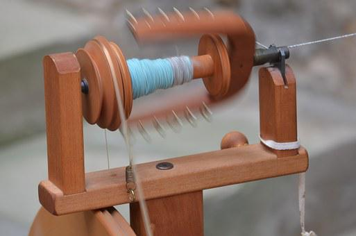 Craft, Spin, Spinning Wheel, Hand Labor, Thread