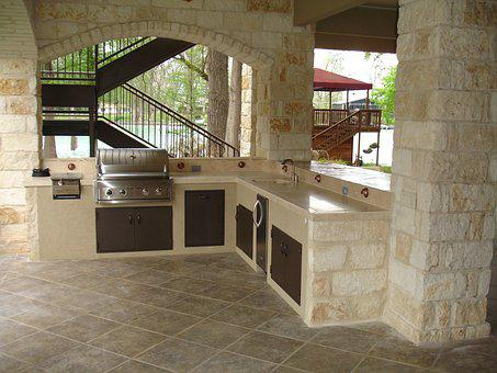 Outdoor Kitchen, Stone, Masonry, Copper, Cooking