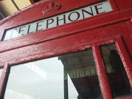 Telephone, Booth, Red, British, Europe, England, London