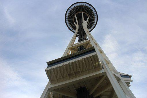 Space Needle, For From, Architecture, Turisattraktion