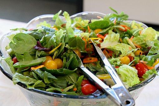 Salad, Lettuce, Tomatoes, Healthy, Vegetable, Green