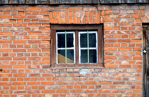 Masonry, Window, Barn, Old, Farmhouse, Facade, Wall