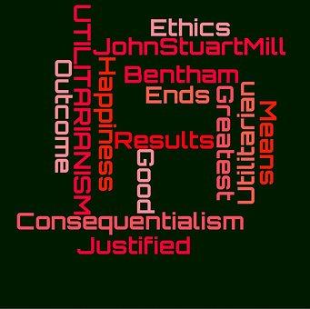 Ethics, Wordcloud, Consequentialism, John Stuart Mill