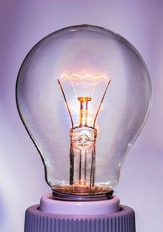 Light Bulb, At, Burn, Light, Glow Lamp, Immediately