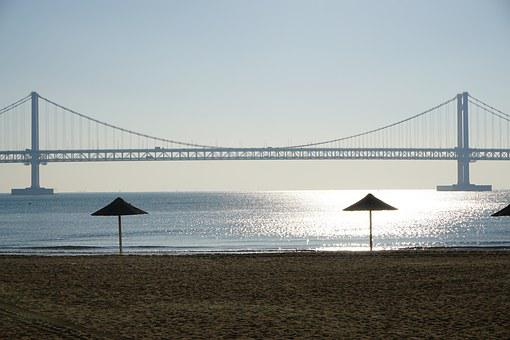 Beach, Coastal, Landscape, Sand Beach, Sea, Gwangalli