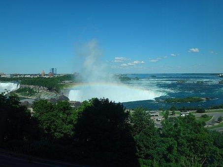Niagra Falls, Waterfall, Water, River, Canada, Niagra