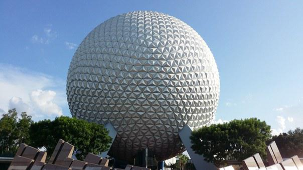 Disney Land, Epcot Ball, Epcot Spaceship Earth