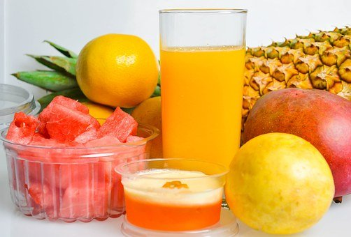 Fruits, Juice, Pineapple, Mango, Watermelon