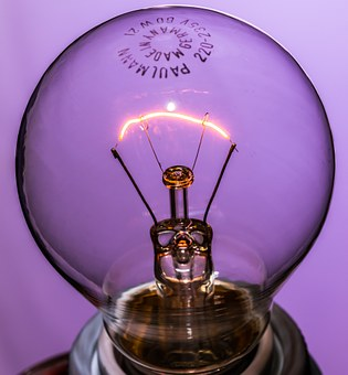 Disappearing, Light Bulb, At, Burn, Light, Glow Lamp