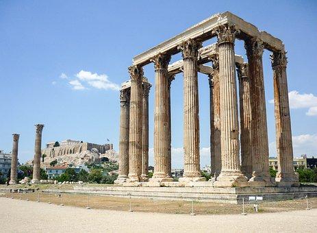 Temple, Athens, Greece, Architecture, Ancient, Greek