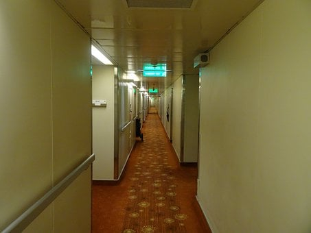 Hallway, Corridor, Long, Narrow, Indoor, Interior