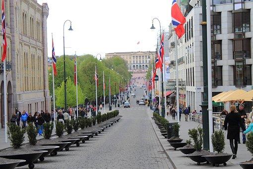 Oslo, Norway, King House, Karl Johans Gate