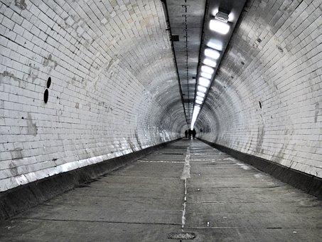 Tunnel, Thames, Pedestrian, London, England, River, Uk
