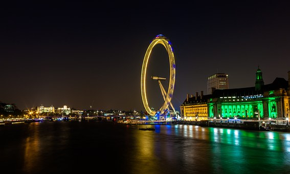 River Thames, London Eye, England, Landmark, Famous