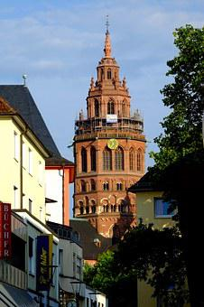 Mainz Cathedral, Dom, Mainz, City, Architecture