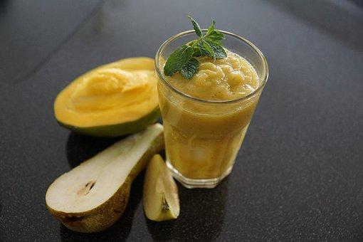 Smoothie, Fruit, Mango, Pear, Apple, Food, Vitamins