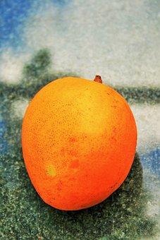 Mango, Fruit, Round, Tropical, Ripe, Food, Sweet