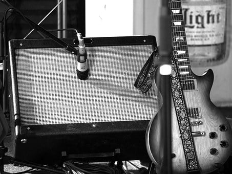 Amplifier, Guitar, Electric, Microphone, Music