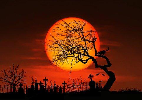Moon, Night, Full Moon, Gespenstig, Mystical, Midnight
