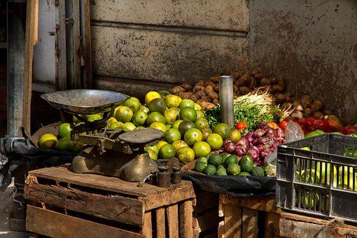 Market, Horizontal, Mombasa, Fruits, Fruit, Vegetables