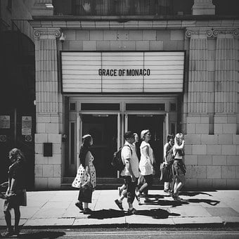 Cinema, Old, Vintage, London, Film, Strangers, Street