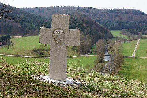 Cross, Jesus, Nature, Religion, Faith, Danube Valley