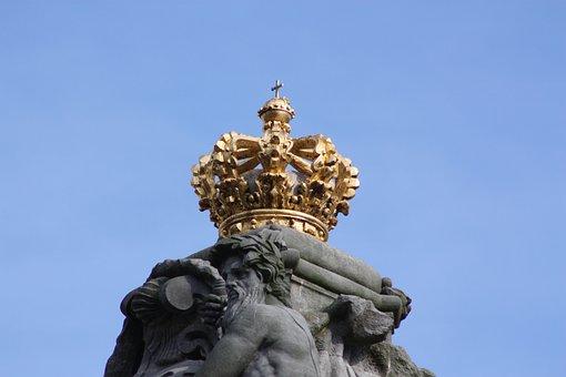 Denmark, Royal House, Crown, King, Golden, Danish