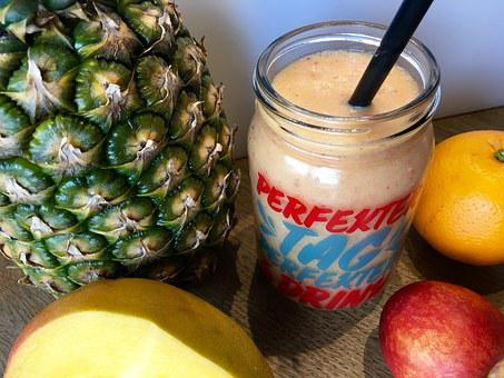 Smoothie, Pineapple, Orange, Fruity, Nectarine, Mango