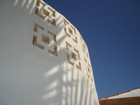Sunset, Fuerteventura, Shadow, Building, Architecture