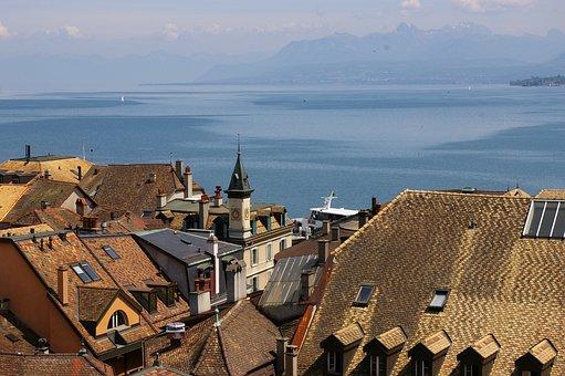 Nyon, Lake, Switzerland, Geneva, Leman, Lac, Lakeside