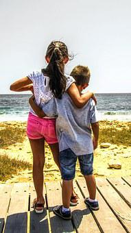Boy And Girl, Sister, Brother, Child, Family, Childhood