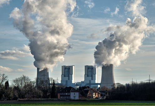 Power Plant, Brown Coal, Industry, Cooling Towers