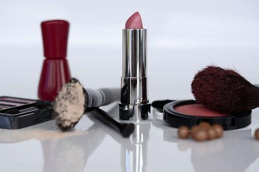 Cosmetics, Lipstick, Eye Shadow, Rouge, Brush, Make Up