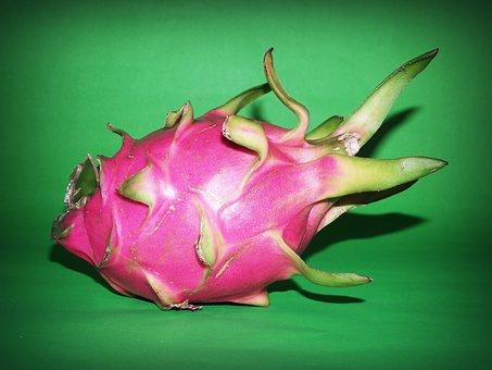 Fruit, Dragon, Closeup, Isolated, Thailand, Succulent