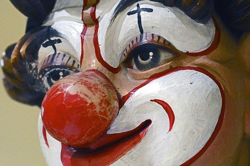 Clown, Face, Painted, Colorful, Red Currant