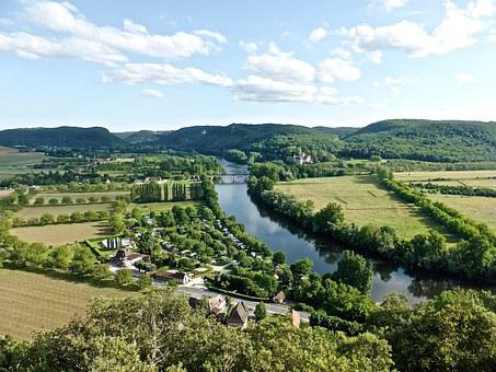 River, Dordogne, Tranquil, Countryside, Scenery