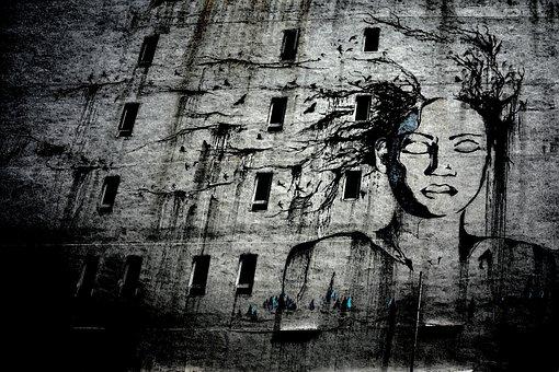 Street Art, Graffiti, Drawing, Creative, Street, Urban