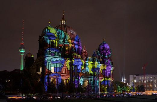 Berlin, Festival Of Lights, Berlin Cathedral, Dom